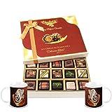 Chocholik Belgium Chocolates - Yummy Treat Of 20pc All Pralines Chocolate Box With Diwali Special Coffee Mugs...