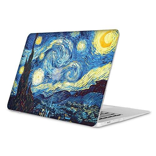 Fintie Coque MacBook Air 13 - Haute Qualité Plastique Transparent Dur étui Housse pour Apple MacBook Air 13.3 Pouces (A1466 / A1369) , Starry Night
