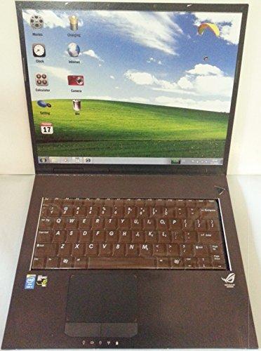 Notebook mit Tastatur aus Schokolade
