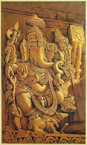 "Dolls Of India ""Ganesha"" Reprint On Paper - Unframed (91.44 X 58.42 Centimeters)"