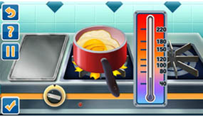 Watch the thermometer to heat food to the perfect temperature.