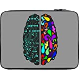 Snoogg Logic And Creative Brain 2412 12 To 12.6 Inch Laptop Netbook Notebook Slipcase Sleeve