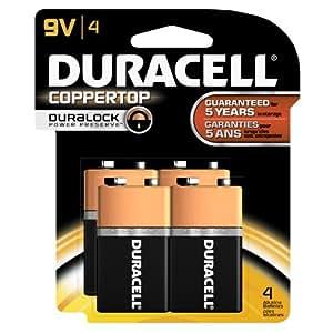 Amazon.com: Duracell Coppertop 9-V Alkaline Batteries 4
