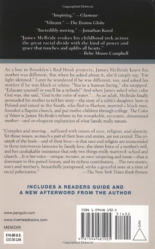 The Color of Water: A Black Man's Tribute to His White Mother, 10th Anniversary Edition