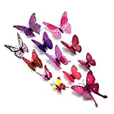 Amaonm? 24pcs 3d Vivid Special Man-made Lively Butterfly Art DIY Decor Wall Stickers Decals Nursery Decoration... - B0167071CG