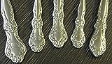 20 teiliges Besteckset für 4 Personen Edelstahl Glänzend mit Blumen Muster-Besteck STAR-LINE® Menü-besteck Tafelbesteck -