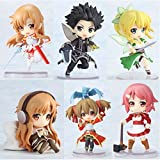 Japan Comic Sword Art Online Fairy Dance Kirito Asuna Lefa 6pcs/set PVC Action Figure