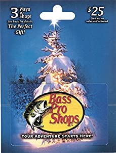 bass pro shop gift card balance amazon com bass pro shops gift card 25 gift cards 2913