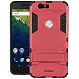 Quicksand Cubix Robot Case For Google Nexus 6P Case Back Cover Warrior Hybrid Defender Bumper Shock Proof Case Armor Cover With Stand For Google Nexus 6P Red