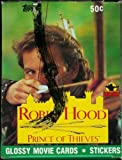 Robin Hood Prince of Thieves Glossy Movie Card Box 36 Packs Per Box by Topps
