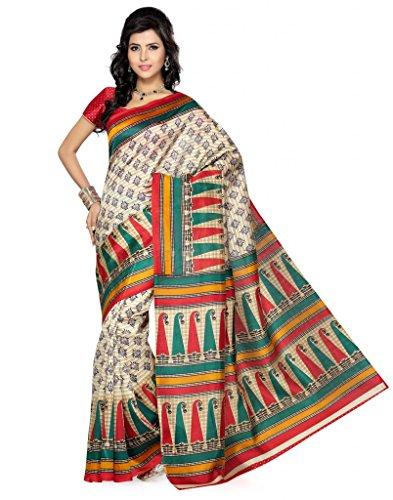 Deepika Saree Art Silk Saree With Blouse - B00PVXR21Q