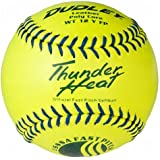 Dudley USSSA Thunder Heat Fast Pitch Softball - 12 Pack, 12-Inch/Blue Stitch