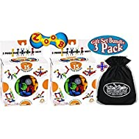 "Zoob (2) 15 Piece Starter Sets & Exclusive ""Mattys Toy Stop"" Storage Bag Gift Set Bundle 3 Pack"