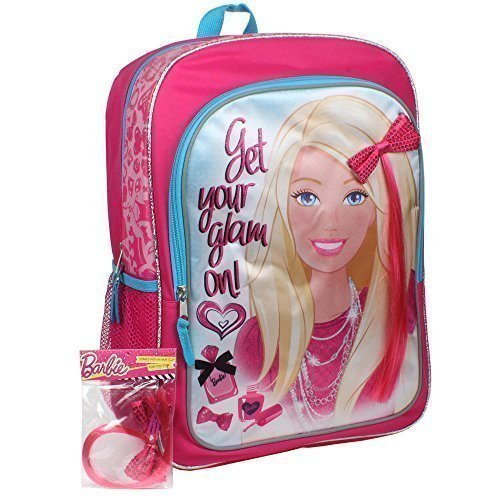 """Barbie 16 Inch """"Get Your Glam On"""" Backpack By Accessory Innovations"""