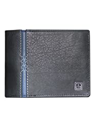 Style98 Genuine Leather Designer Wallet With Coin Pocket (Black)