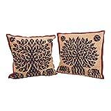 """Aiaca Hand Applique Tree 2 Piece Cotton Cushion Cover - 16"""" X 62"""", Multicolor - B00ZA4BL2C"""