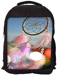 Snoogg Dream Catcher Real Backpack Rucksack School Travel Unisex Casual Canvas Bag Bookbag Satchel