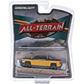 "2015 Chevrolet Silverado 1500 Black And Yellow Pickup Truck ""All Terrain"" Series 2 1/64 By Greenlight 35020 E"