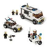 Building Block Police Patrol & Prisoner Transporter Set Compatible With Lego