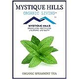 MYSTIQUE HILLS - Organic Sun Dried Whole Spearmint Tea (PREMIUM QUALITY) (100 GR)