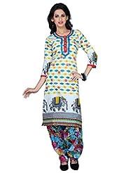Sareeshut Off White Color Cotton Fabric Readymade Printed Kurti - B00QRWHFQM