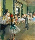 Ballet Class by Degas peel & stick decal, 27.12 X 30.8