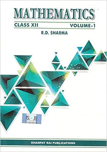Mathematics - Class - 12-Book 2017 Edition- R.D. Sharma