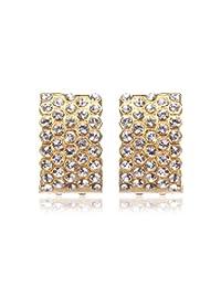 Eclat Gold Brass Alloy Hoop Or Huggie Earrings For Women New Fashion Jewelry (514265G)