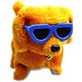 Andp Funny Electric Walking Barking Dog Toy With Glasses(Powered By 4 Aa Batteries Not Included,Random Color)