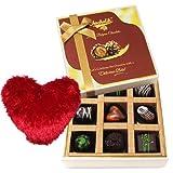 Chocolicious Dark Chocolate Box With Heart Pillow - Chocholik Belgium Chocolates