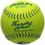 Dudley USSSA Thunder Heat Slow Pitch Classic M Stamp Softball - Synthetic Cover - 12 Pack, 12-Inch/Blue Stitch