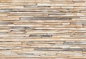 "Fototapete ""Whitewashed Wood"", 368x254cm, 8-teilig, weiss"