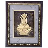 FineDor 24kt Gold Foil 3D Mahavir Swami Frame, 25cmX4cm