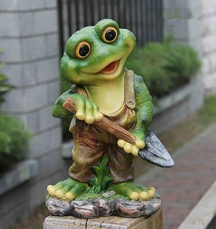 Frosch XL 29 cm Hoch  Design 11151-1 Deko Garten Gartenzwerg Figuren Dekoration