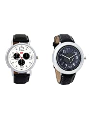 Gledati Men's White Dial And Foster's Women's Black Dial Analog Watch Combo_ADCOMB0001866