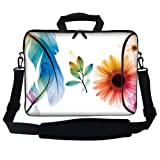 Meffort Inc 17.3 Inch Laptop Sleeve With Extra Side Pocket Soft Carrying Handle & Removable Shoulder Strap / Notebook...