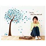 Oren Empower Large Skyblue Tree Decorative Removable Water Resistant Wall Sticker