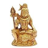 Indian Arts Shop Shiva Brass (2.29 Cm X 4.57 Cm X 7.62 Cm, Golden)
