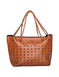 Iva Artificial Leather Brown Hand Bag & Sling Bag Pack Of 2 - B01B6AEPNA
