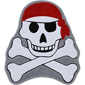 circo pirate bath mat mohawk home memory foam grey pirate skull and 10604