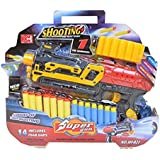HALO NATION Super Gun Toy Set - Battery Operated Shooting Toy Bullet Blaster Gun With Aim Laser And 14 Foam Dart...