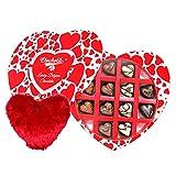 Admiring Choco Treat With Heart Pillow - Chocholik Belgium Chocolates