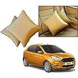 Car Vastra Cushion Pillow Set Beige Color For Car & Home For - Ford Figo -2015