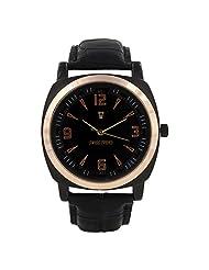 Swiss Trend Black Dial Copper Finish Mens Wrist Watch (Artshai-1612)