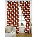 Story @ Home Nature Designer Eyelet Door Curtain-Set Of 2 - B00RLKLM72