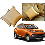 Car Vastra Cushion Pillow Set Beige Color For Car & Home For - Mahindra KUV 100