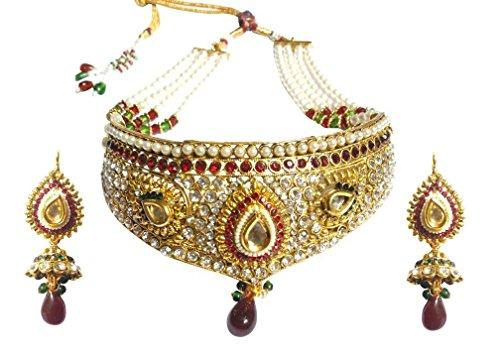Chetan Arts Antique Alloy Necklace Set For Women (Bridal003)