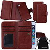 For Apple IPhone 5S 5 Case DRUnKQUEEn Card Holder Case IPhone5S IPhone5 Wallet Leather Flip Case - Detachable Magnetic Hard Back Cover With Lanyard Wrist Strap