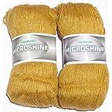Vardhman Knitting Wool, Pack Of 2 (Mustard) (200 Gm)