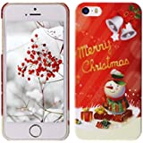 D : Spiritsun Christmas Series Case For IPhone 5/5S PC Hard Back Cover Special Design Cell Phone Shell Red Skin...